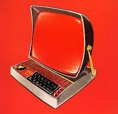 Plan59 ::  U.S. Royalite, 1960  Modern T.V. (looks like a desktop!)