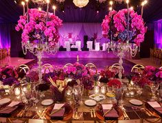 Wow!  What a Tablescape!  Sherwood Event Hall loves the drama!  #atlanta #eventstyling #eventsbygia #eventcompany #1stbirthdayparty #birthdaytheme #corporateevent #sherwoodeventhall #wedding #atlantawedding #birthdaydeas #atlantavenues #partyideas #partyfood #weddingcake #sangeetwedding    #weddingtablescape  #floraldesign