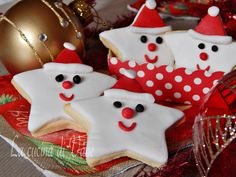 Cookies Decorated Christmas Desserts Ideas For 2019 Christmas Biscuits, Christmas Sugar Cookies, Christmas Cupcakes, Holiday Cookies, Star Cookies, Fancy Cookies, Cupcake Cookies, Noel Christmas, Christmas Candy