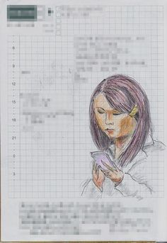 A woman I saw in the commuter train. 『髪留め』