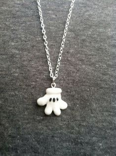 Mickey Mouse Glove Polymer Clay Pendant by aWishUponACharm on Etsy
