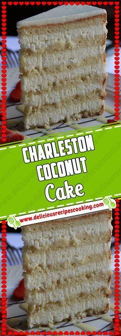 Charleston Coconut Cake Via Best Vegan Cake Recipe, Best Vegan Recipes, Heart Healthy Recipes, Top Recipes, Cake Recipes, Snack Recipes, Dessert Recipes, Kids Cooking Recipes, Dinner Recipes For Kids