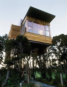 How romantic. To live in a tree house....