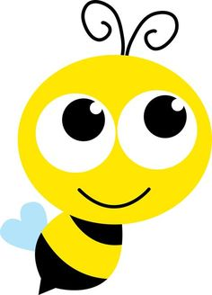 Great free clipart, png, silhouette, coloring pages and drawings that you can use everywhere. Bee Crafts, Paper Crafts, Bee Clipart, Bee Party, Cute Bee, Bee Theme, Rock Art, Doodle Art, Painted Rocks