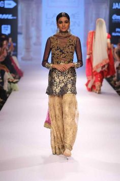 Lakmé Fashion Week – LAKMÉ SALON BRIDFAL SHOW BY NEETA LULLA Sharara, Anarkali, Salwar Kameez, Lehenga, Neeta Lulla, Indian Look, Desi Wear, Desi Clothes, Lakme Fashion Week