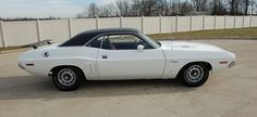 the only known White 1971 Challenger R/T to have V6W White Stripes