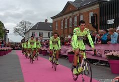 The fluorescent yellow of Farnese-Vini will standout in the peloton this month!
