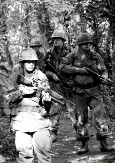 On patrol... Vietnam War.1Bn3rd A  #VietnamWarMemories  (1975)   Me  &  Billy Anderson, Warren Thomas ,  Joe B.           Xuan Loc