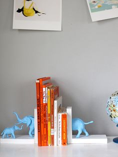 Mom and Baby Animal Bookends by Liz Stanley of Say Yes to Hoboken