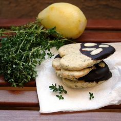 The Comfort of Cooking » Lemon-Thyme Shortbread Cookies