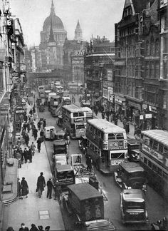 Old Photo of Ludgate Circus London England