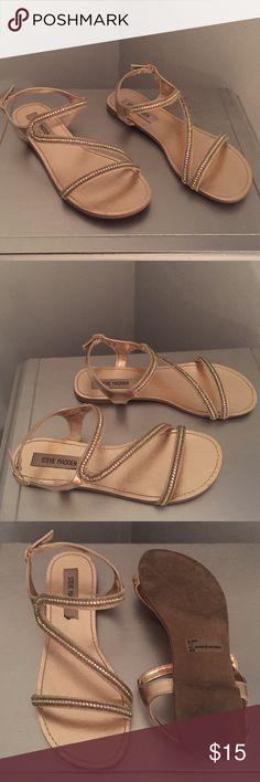 Gold Steve Madden sandals Worn once, super comfy gold Steve Madden sandals. Steve Madden Shoes Sandals