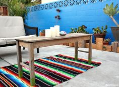 Frida Kahlo-Inspired: Blue Patio Wall - Pearmama