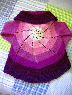 pin wheel cardi pattern (free) baby to four years