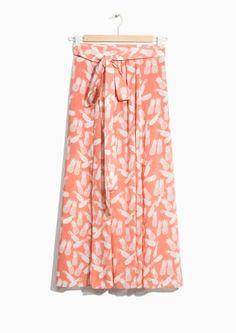Pineapple print midi & Other Stories | Slit Crepe Skirt