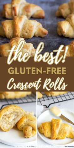 If you are looking for the best, buttery gluten free crescent rolls recipe, this is the recipe you must make. These are a Pillsbury Crescent Rolls copycat recipe and they are filled with light buttery layers! www.fearlessdining.com Gluten Free Yeast Rolls, Gluten Free Crescent Rolls, Gluten Free Dinner Rolls, Homemade Crescent Rolls, Best Gluten Free Bread, Gluten Free Biscuits, Gluten Free Treats, Gluten Free Baking, Gluten Free Desserts