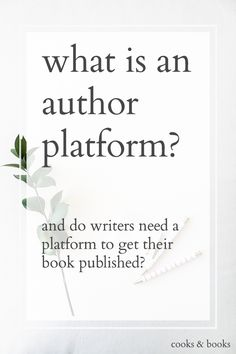 This is the #1 question I get from writers as a literary agent. What is a platform, and does it even matter? Shouldn't writers just focus on honing their craft and revising their manuscripts, and worry about actually selling copies of the book once (and if) it's actually published?