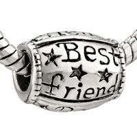 "Pugster ""best Friend"" Star Silver Plated Style Pandora Beads"