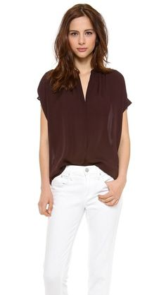 Love this Vince | Placket Blouse in blackberry
