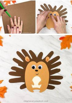 This easy handprint hedgehog craft is a fun autumn activity for kids to make! It's simple thanks to