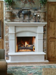 Cast stone fireplace surrounds                                                                                                                                                                                 More