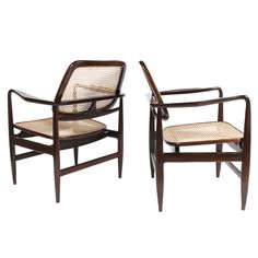 Pair of Oscar armchairs by Sergio Rodrigues ca1960