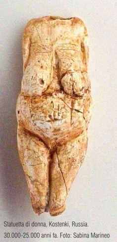 statuetta di donna, Kostenki, 30.000 - 25.000 anni fa