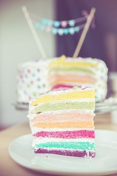 vegan, Regenbogentorte, foodblog, Lebensmittelfarbe, backen ...