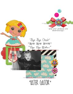 My page using Shabby Miss Jenn Designs newest kit, Sew Many Cuties :)