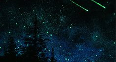 Glow in the dark ceiling paint...way better than my plastic stars, hahaha