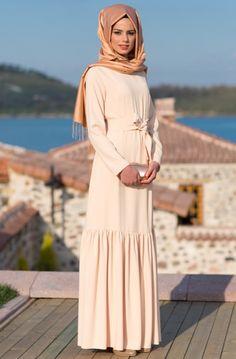 Kuaybe Gider Somon Ballı Badem Elbise Tesettür Modeli ile ilgili tüm detayları buradan inceleyebilirsiniz