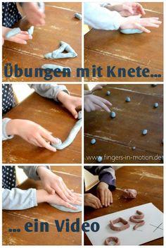 In diesem Video werden praktische Übungen gezeigt, die mit Knete durchgeführt werden. Die machen richtig Spaß und verbessern die feinmotorik die für die graphomotorik so wichtig ist.                                                                                                                                                                                 Mehr