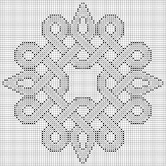 Sample of the free Celtic knot inspired Knotty Entanglements cross stitch patter. - Sample of the free Celtic knot inspired Knotty Entanglements cross stitch patterns. Cross Stitching, Cross Stitch Embroidery, Embroidery Patterns, Cross Stitch Designs, Cross Stitch Patterns, Cross Stitch Charts, Celtic Cross Stitch, Celtic Patterns, Celtic Designs