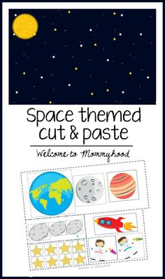 Free space themed cut and paste printable from Welcome to Mommyhood