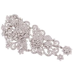 EVER FAITH 6 Inch Wedding Silver-Tone Flower Clear Austrian Crystal Hair Comb -- This is an Amazon Affiliate link. You can find more details by visiting the image link.