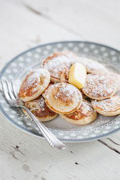 "fullcravings: ""Dutch Mini Pancakes (Poffertjes) """