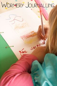 Wormery Journalling with kids - introducing preschoolers to nature journalling whilst studying what happens under the Earth