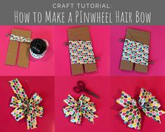 How to Make Hair Bows - 3 Easy Styles<br> Making Hair Bows, Diy Hair Bows, Diy Bow, Diy Ribbon, Ribbon Bows, Bow Making, Ribbon Flower, Ribbon Hair, Fabric Flowers