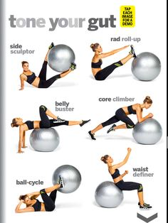 Fitness Workouts, Fitness Workout For Women, Fitness Diet, Yoga Fitness, Fitness Motivation, Health Fitness, At Home Workout Plan, At Home Workouts, Ball Workouts