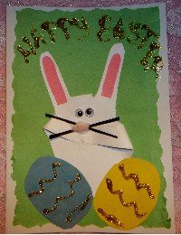 Kids Easter Card  Handprint