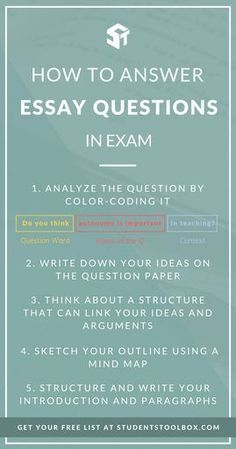 If you are looking for tips and a comprehensive guide on answering and writing essay questions in exams and tests in college and university, this printable has some perfect tips to help you ace the essay-type exam and finals (including tips on sketching the outline and structuring your introduction and paragraphs)! Download it now on StudentsToolbox.com!