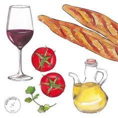 Good objects - Back to Barcelona! vino & tapas #goodobjects #illustration…