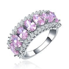 Brillante anillo de cóctel para mujer rosa anillos cristal anillo de mujer moda joyería de lujo del partido accesorios bijoux DR133