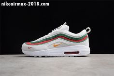 super popular 4dafb 1c41c High Quality Mens and Womens Nike Air Max 1 97 VF SW White Red-Green For  Sale - ishoesdesign