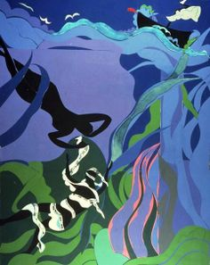 Romare Bearden - The Sea Nymph, 1977.