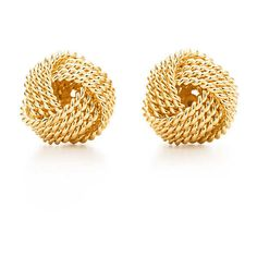 Tiffany Twist Knot Earrings (£495) ❤ liked on Polyvore featuring jewelry, earrings, accessories, brincos, jewels, gold knot earrings, yellow gold earrings, 18 karat gold jewelry, gold jewellery and yellow gold jewelry