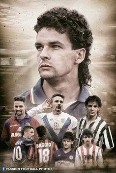 Roberto Baggio Football Fever, Football Soccer, Football Shirts, Roberto Baggio, Legends Football, Antonio Conte, World Cricket, Best Football Players, Football Photos