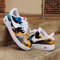 Behind The Scenes By cremdelacrep Sneakers Mode, Sneakers Fashion, Fashion Shoes, Nba Fashion, Custom Painted Shoes, Custom Shoes, Zapatillas Nike Air, Painted Sneakers, Nike Shoes Air Force