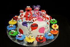 Elmo and Abby cake