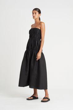 VIVIENNE STRAPLESS GOWN – SIR the label Bodice, Neckline, Strapless Maxi, Silk Gown, Bridesmaid Dresses, Wedding Dresses, Vivienne, Color Combinations, Gowns